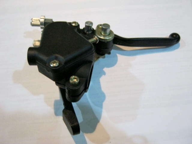 Thumb Throttle and Brake Lever for Mini-Quad