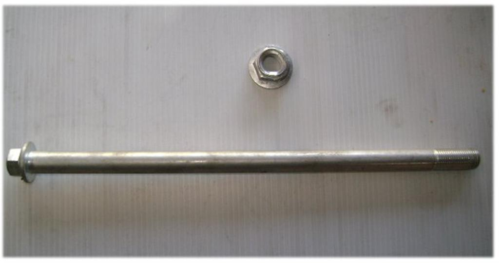 Axle 220mm x 12mm with nut