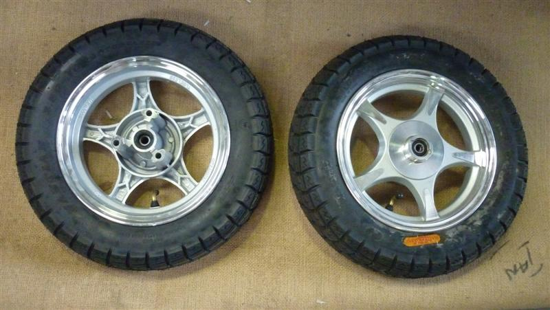 "Complete 10"" Front Scooter Wheel and Tyre"